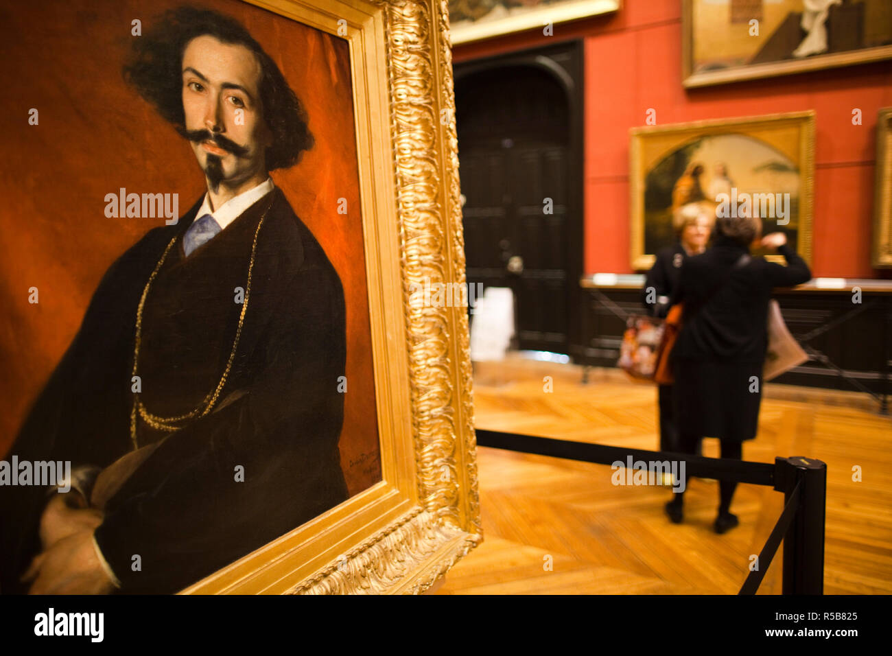 France, Midi-Pyrenees Region, Haute-Garonne Department, Toulouse, Musee des Augustins museum, Portrait of Spanish Painter Moreno, 1866 by Charles Durand - Stock Image
