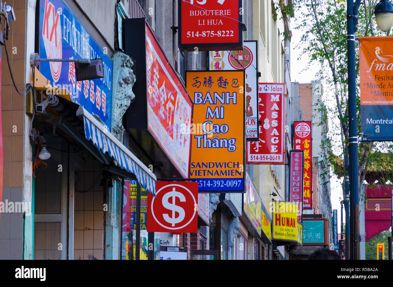 Canada, Quebec, Montreal, Chinatown - Stock Image