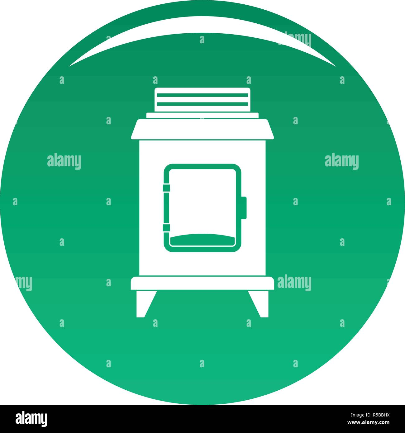 Old oven icon. Simple illustration of old oven vector icon for any design green - Stock Vector