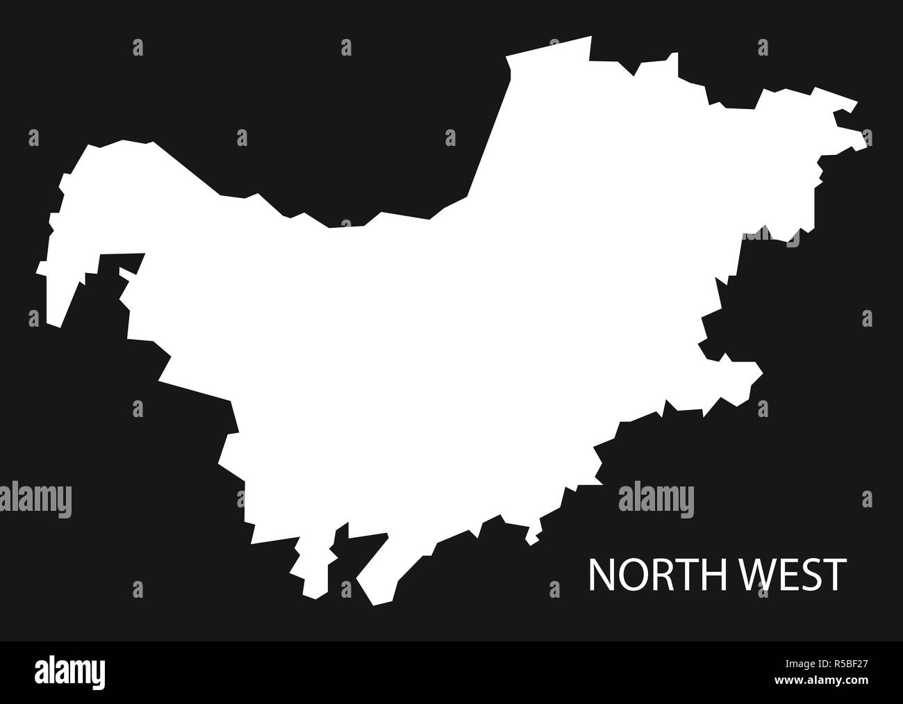 South Africa North West Map.North West South Africa Map Black Inverted Silhouette