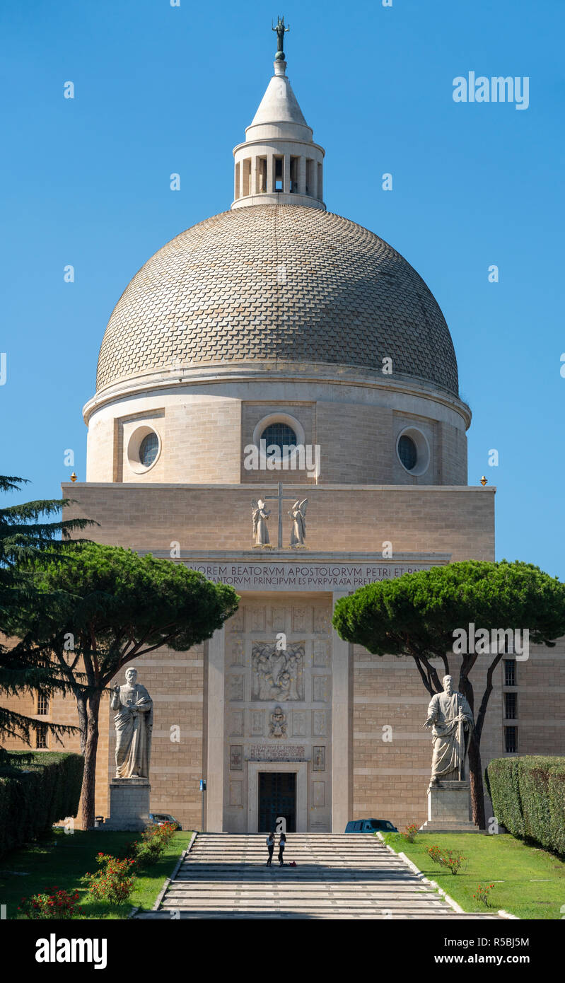 The Basilica of St Peter and Paul in the EUR district of, Rome, Italy. - Stock Image