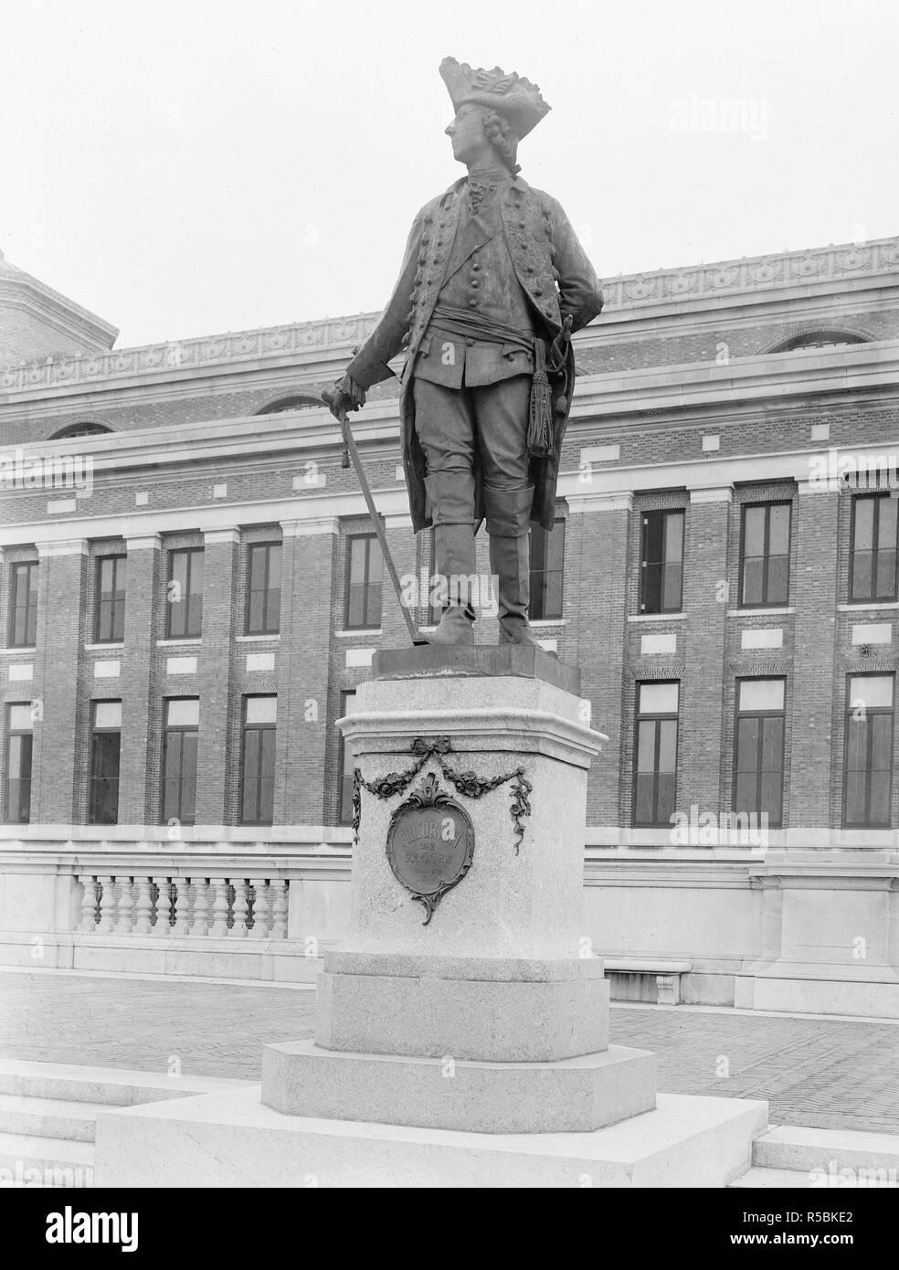 Statue: Frederich der Grosse, 1740-1786 (photo ca. 1910-1920) - Stock Image