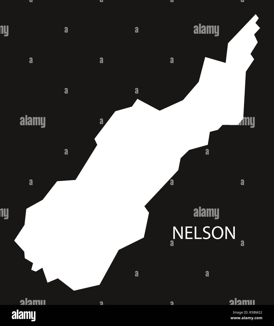 Map Nelson New Zealand.Nelson New Zealand Map Black Inverted Silhouette Illustration Stock