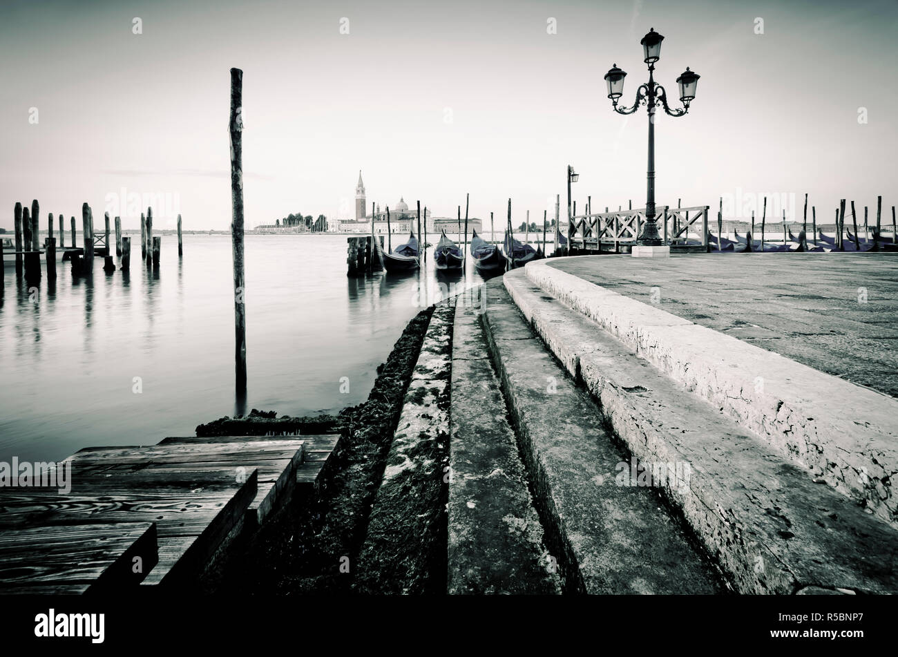 Italy, Veneto, Venice, San Giorgio Maggiore Church across Basino di San Marco Stock Photo