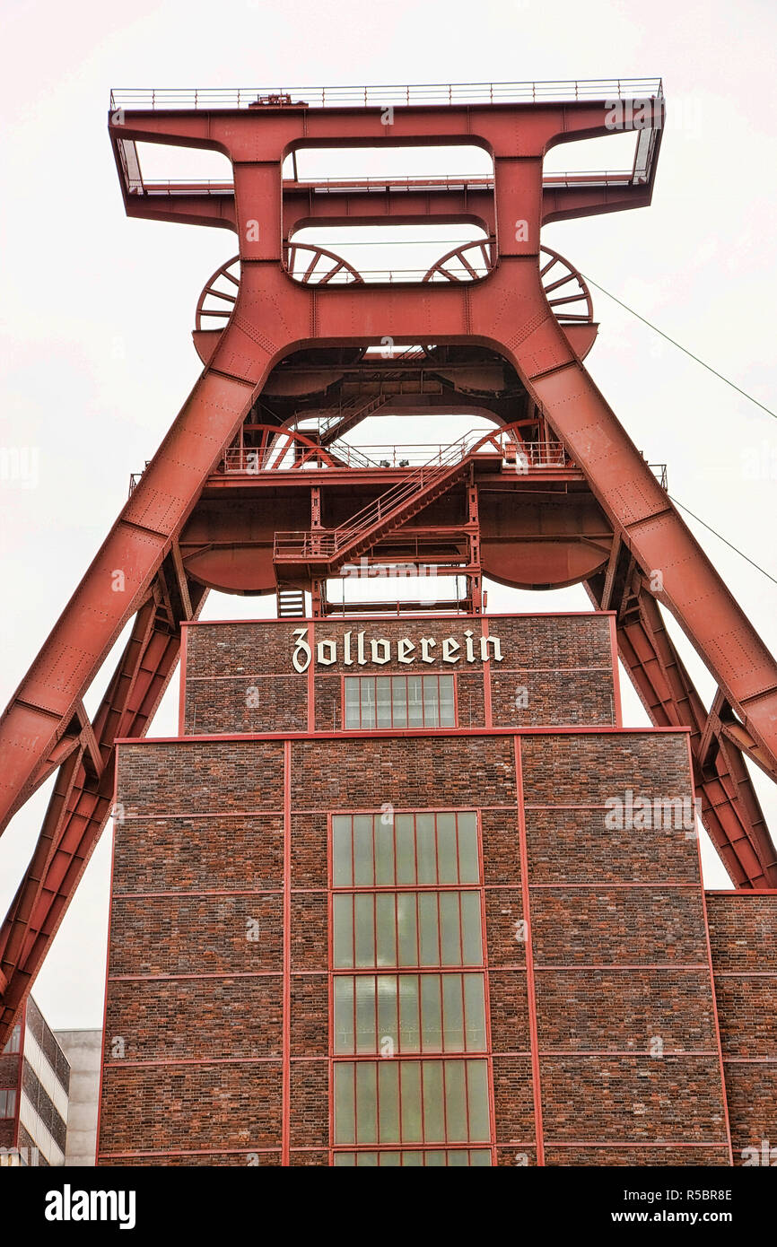 Zollverein, Ruhr Valley, Essen, North Rhine-Westphalia, Germany - Stock Image