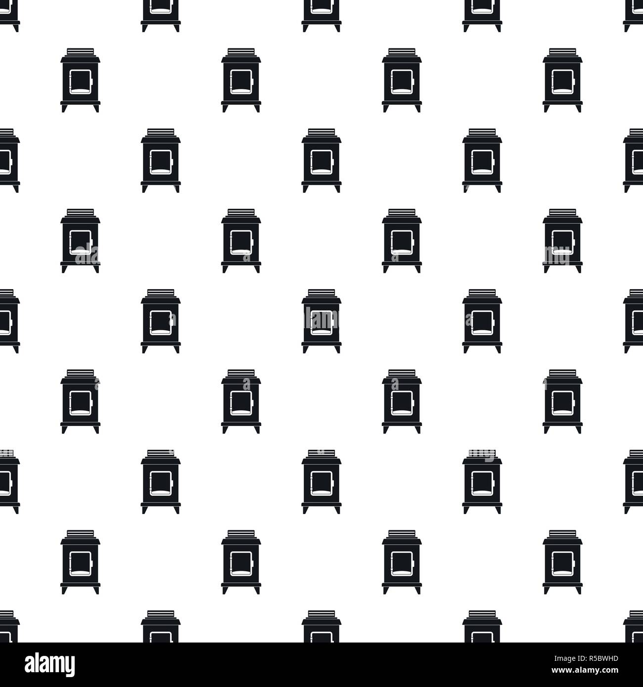 Old oven pattern seamless vector repeat geometric for any web design - Stock Vector