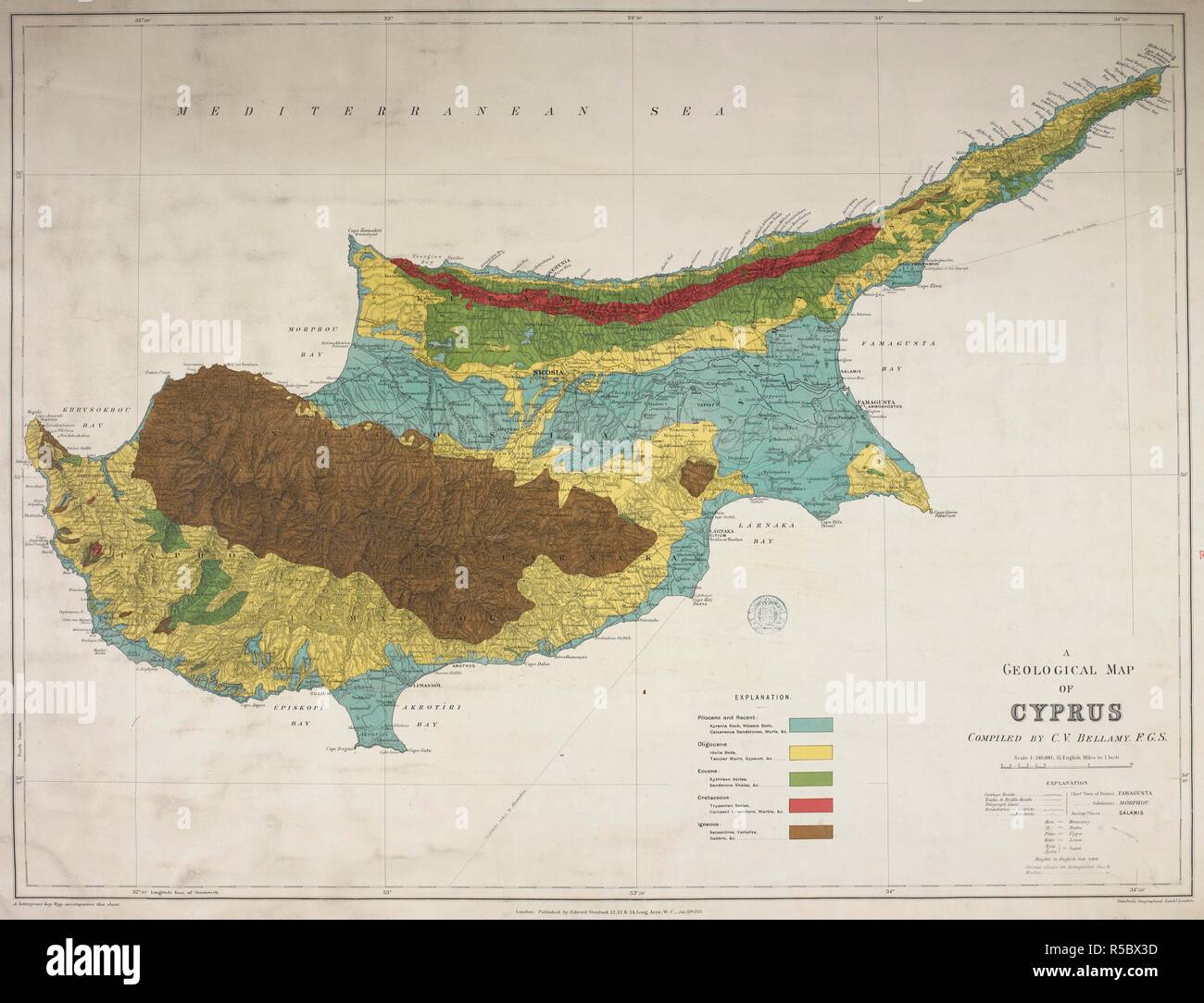 A geological map of Cyprus. A Geological Map of Cyprus ... on geographical map, nautical chart, physical map, treasure map, michigan geology map, gis map, topographical map, relief map, aeronautical chart, flow map, world map, our travels map, structural map, topological map, choropleth map, raised-relief map, new york state geologic map, pictorial maps, political map, us geology map, index map, economic map, climate map, thematic map, weather map, isopach map, william smith, geotechnical engineering, mineral map, vegetation map, land map, physiographic map, topographic map,