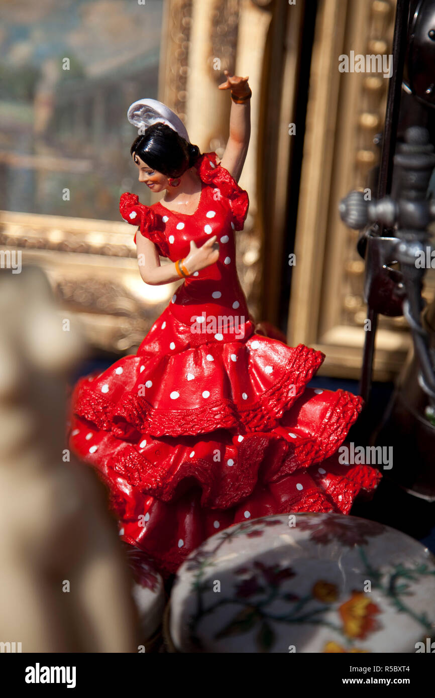 Figurine of a flamenco dancer, Barcelona, Spain Stock Photo