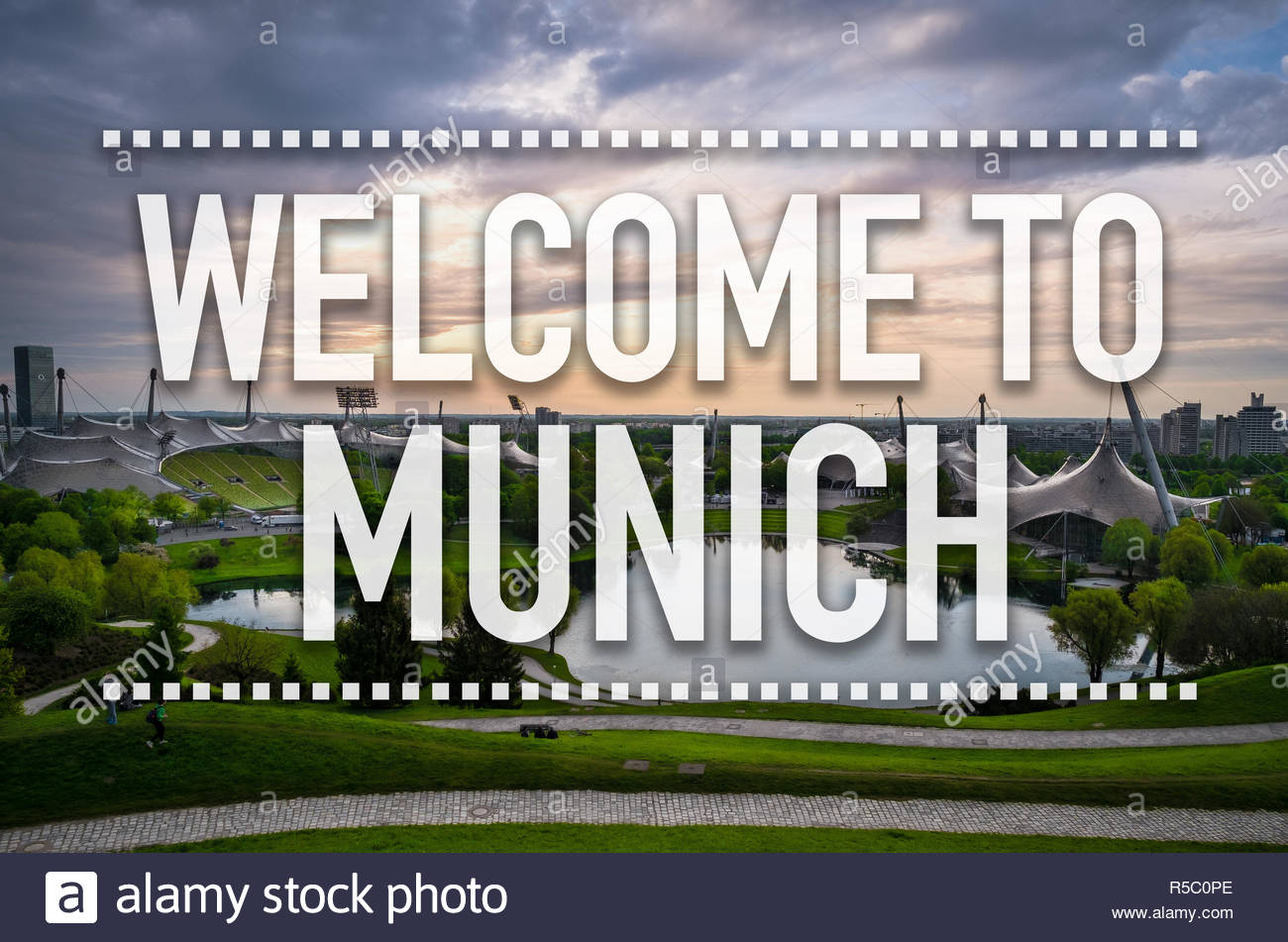 Welcome to Munich - Stock Image