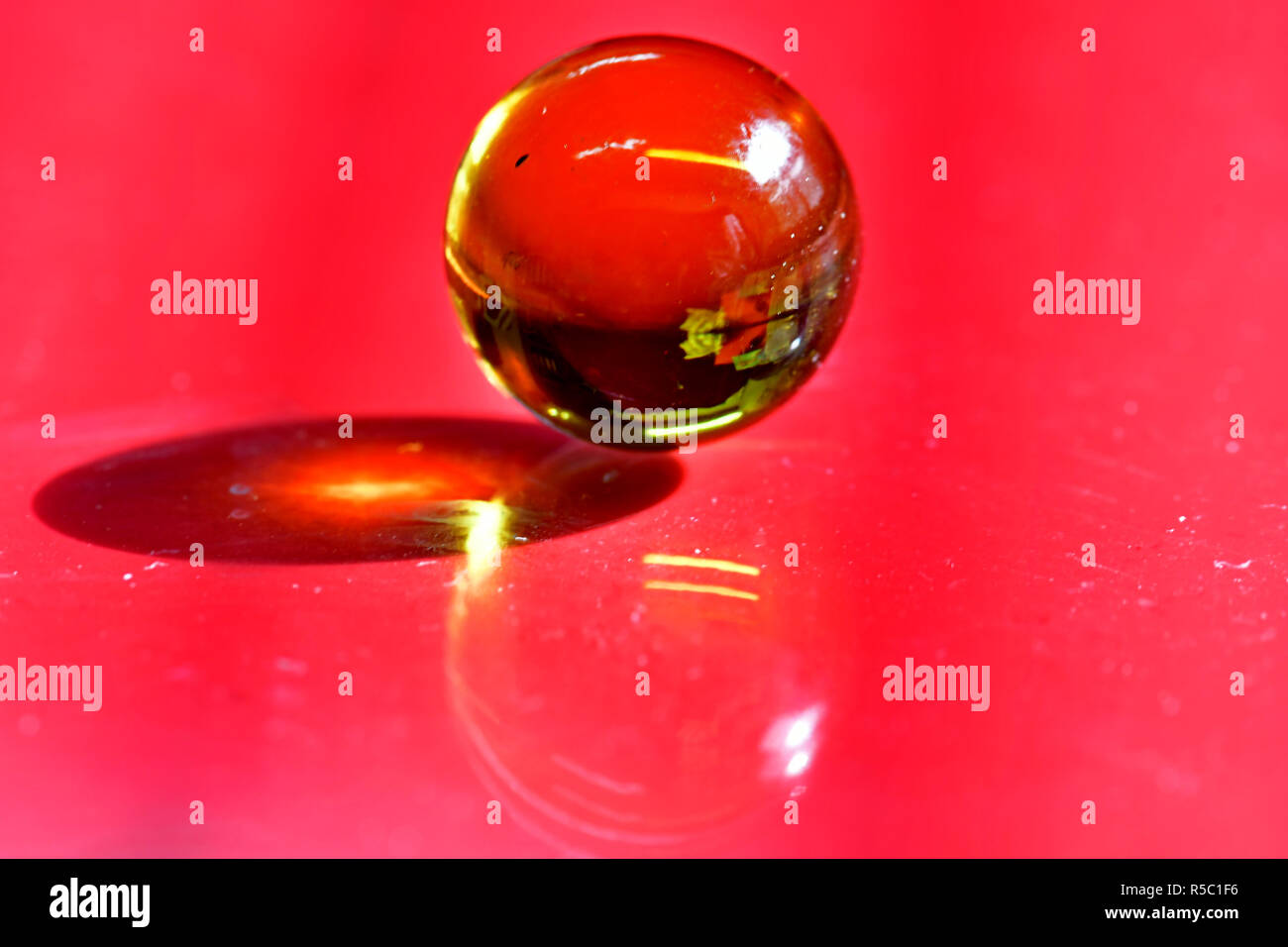 Marbles with light transparency and reflections - Stock Image