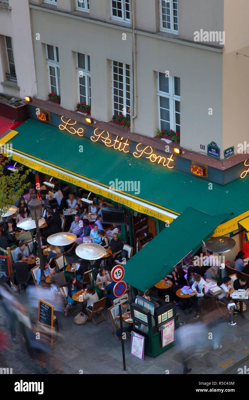 Cafe/Bistro, Latin Quarter, Rive Gauche, Paris, France - Stock Image