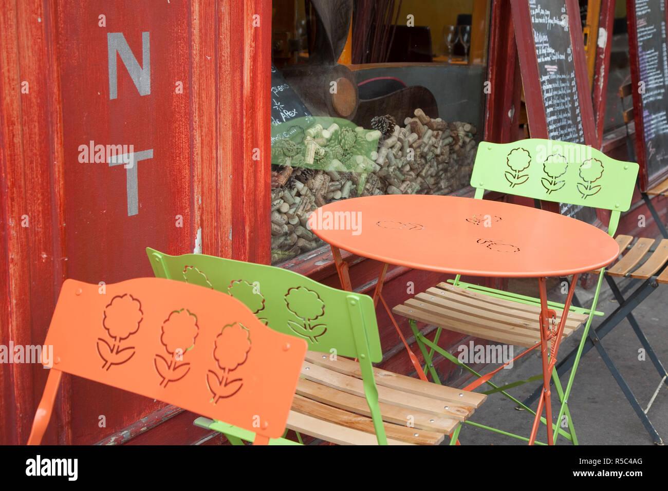 Cafe/Restaurant, Rive Gauche, Paris, France - Stock Image