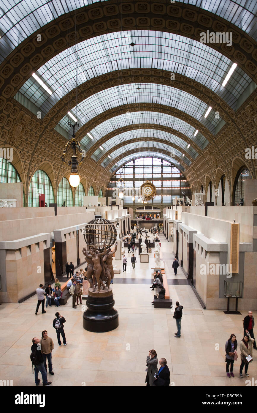 France, Paris, Left Bank, Musee d'Orsay museum, interior - Stock Image
