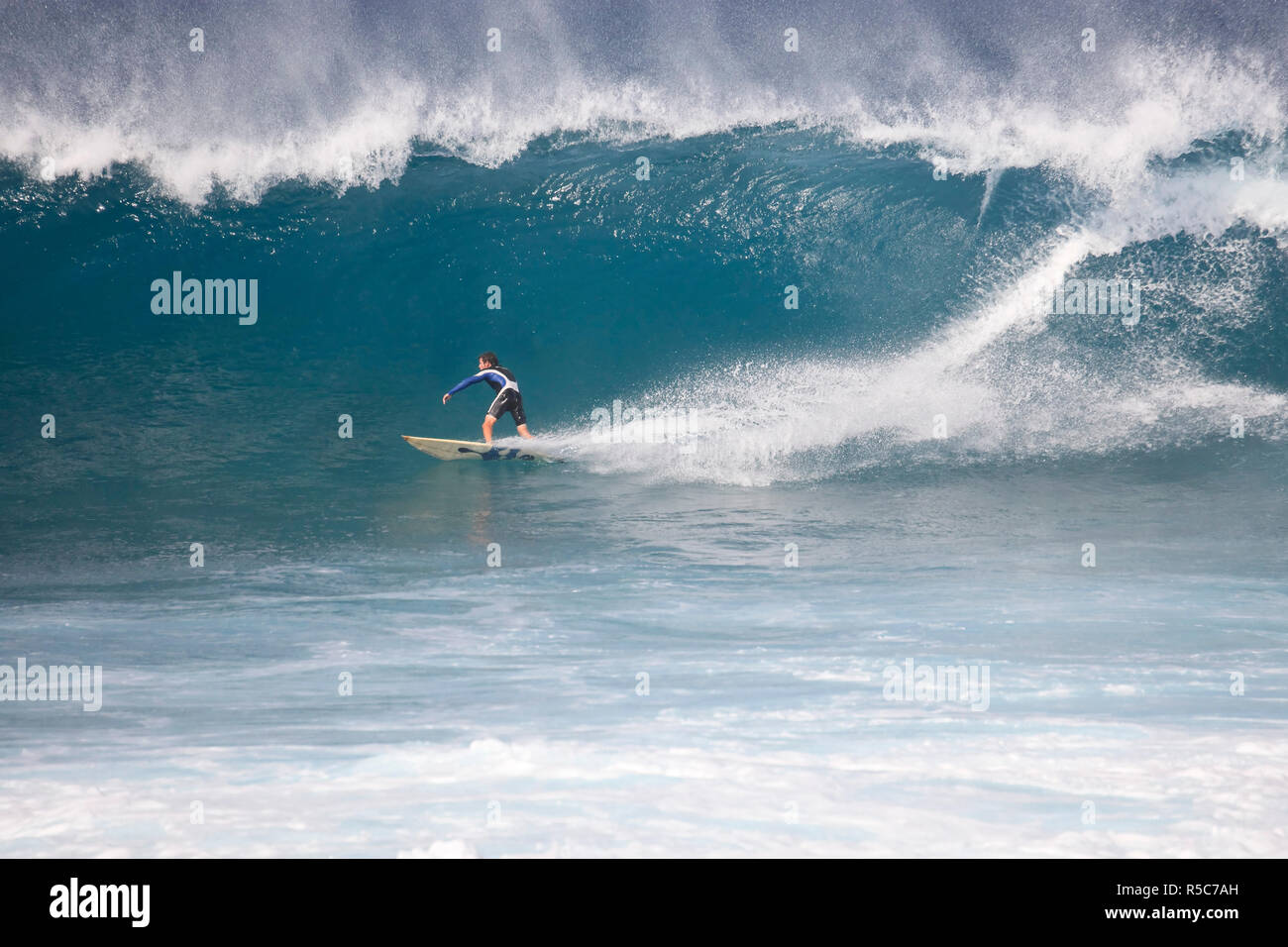Cape Verde, Sal, Surfers in Ponta Preta, Cape Verde's most famous surfing spot Stock Photo