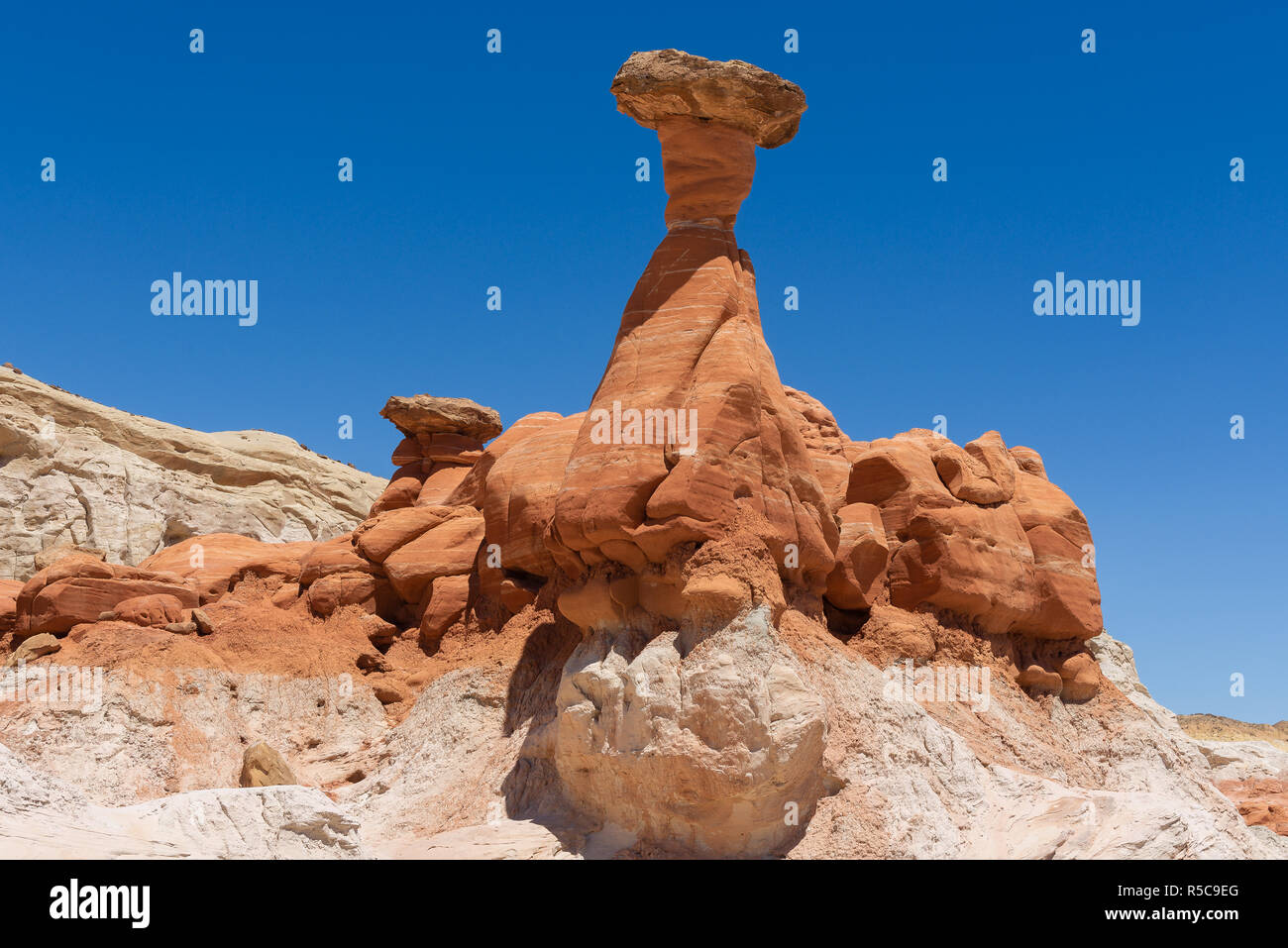 Toadstool Hoodoos in Grand Staircase-Escalante National Monument, Utah, USA Stock Photo