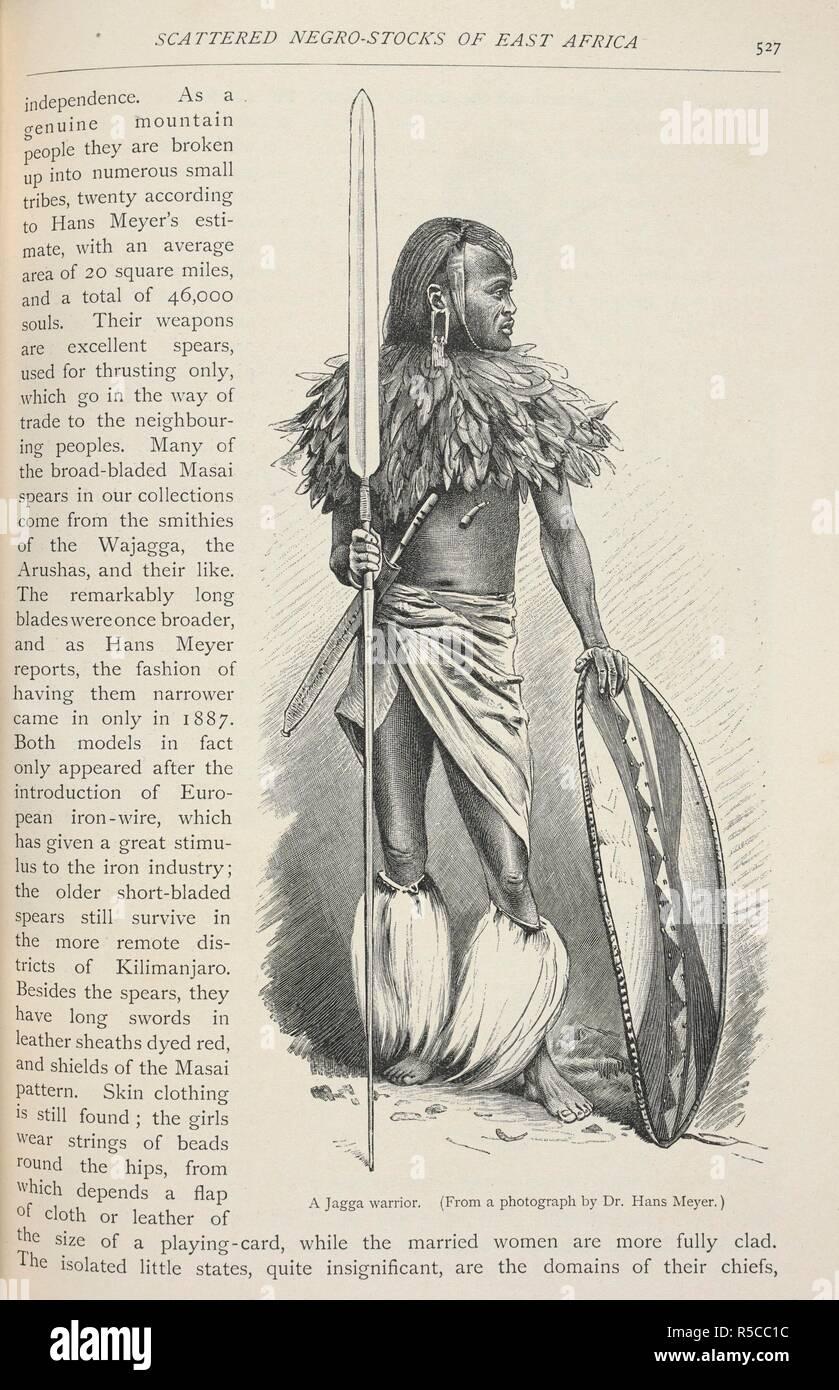 African Warrior Shield Spear Stock Photos & African Warrior Shield