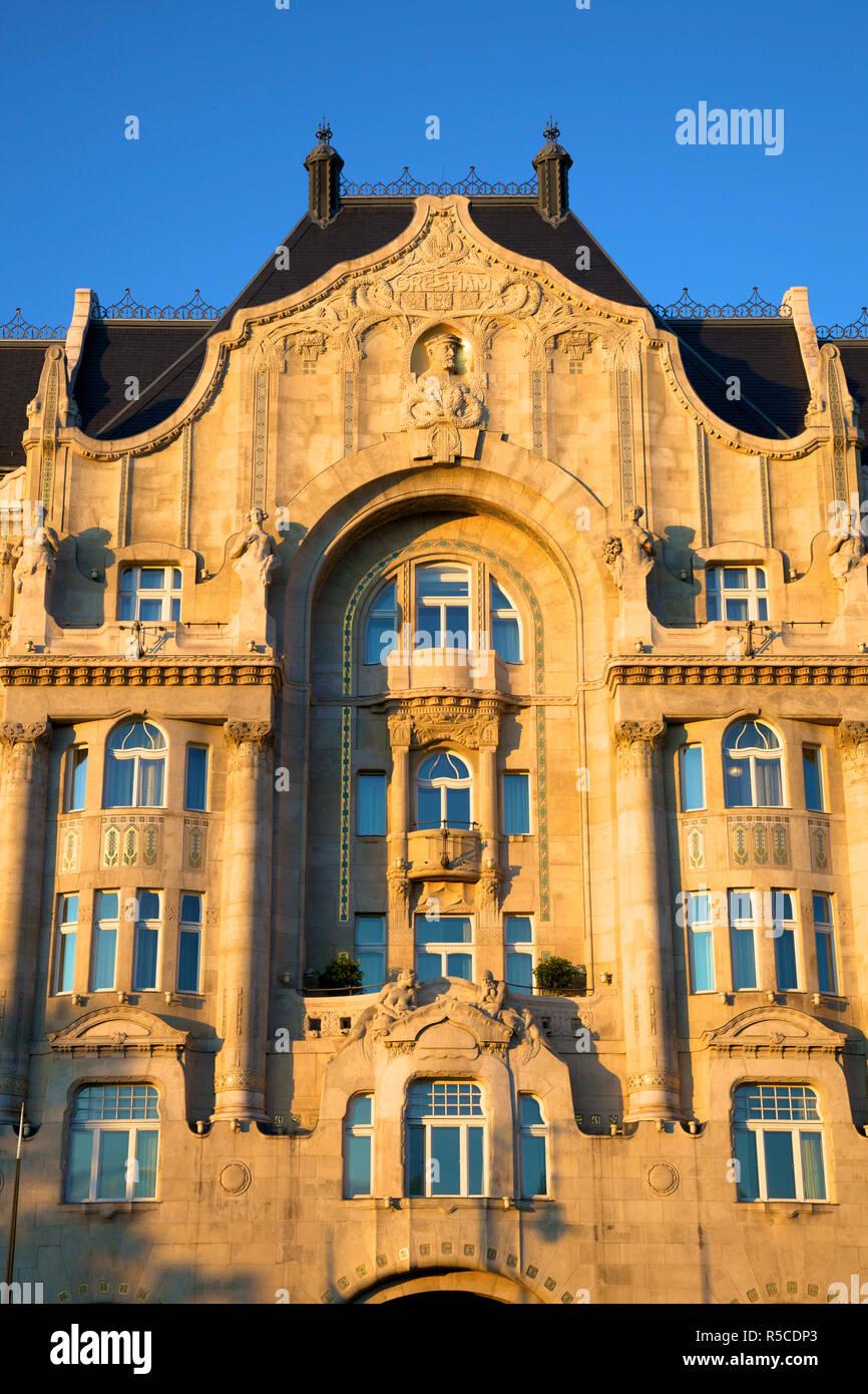 Four Seasons Hotel, Gresham Palace, Budapest, Hungary, - Stock Image