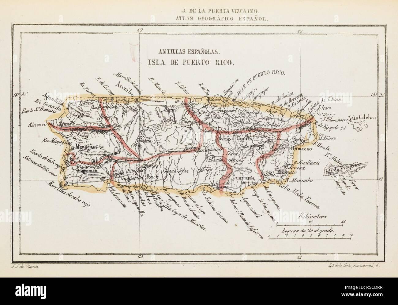 Puerto Rico Mapa Mundi.A Map Of Puerto Rico Atlas Geograi Fico Espaniƒol