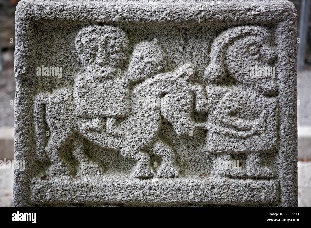 High Cross (8-9 century), Moone, County Kildare, Ireland - Stock Image