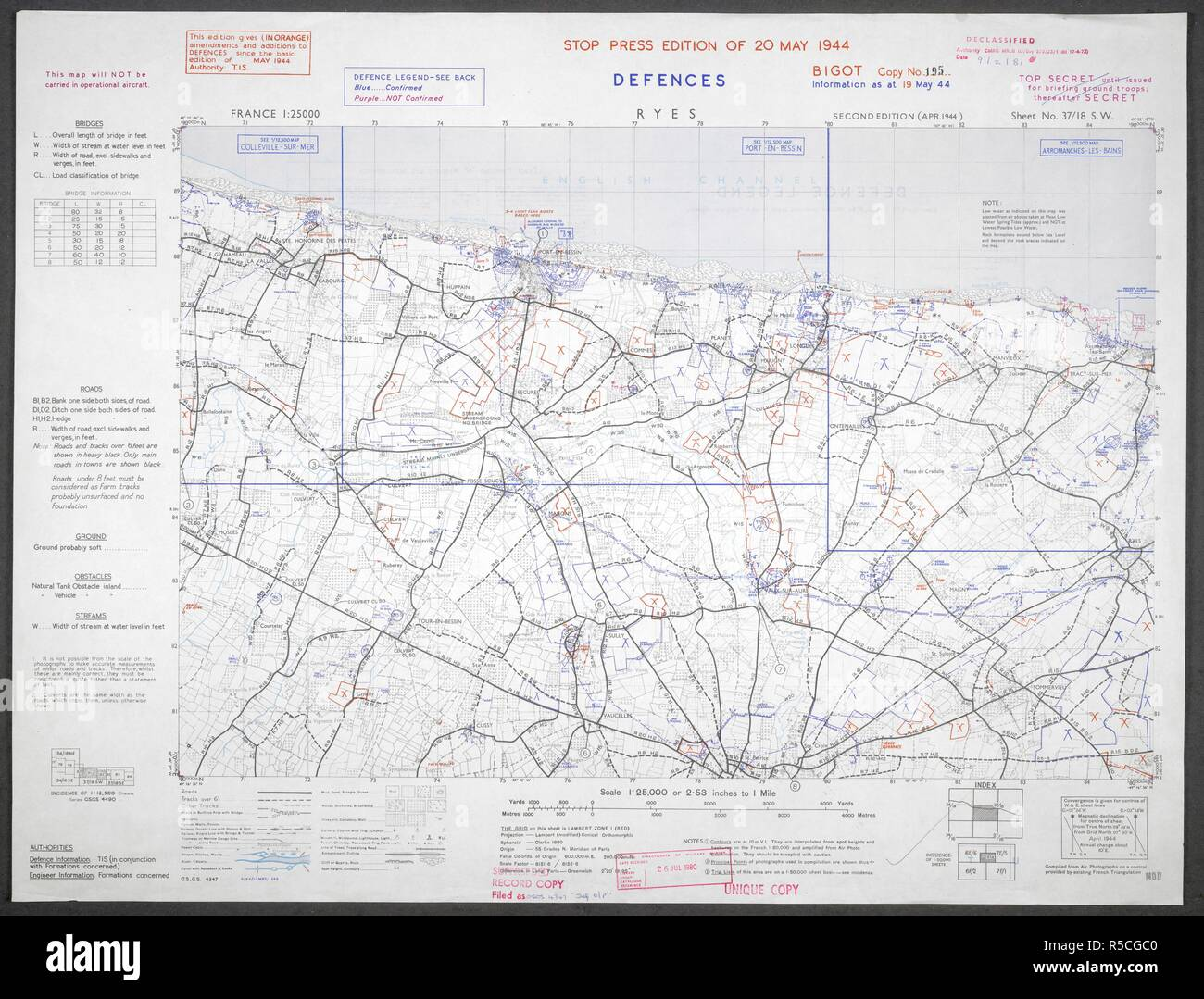 Ryes French Coast Gold Beach A Map Of The Second World War