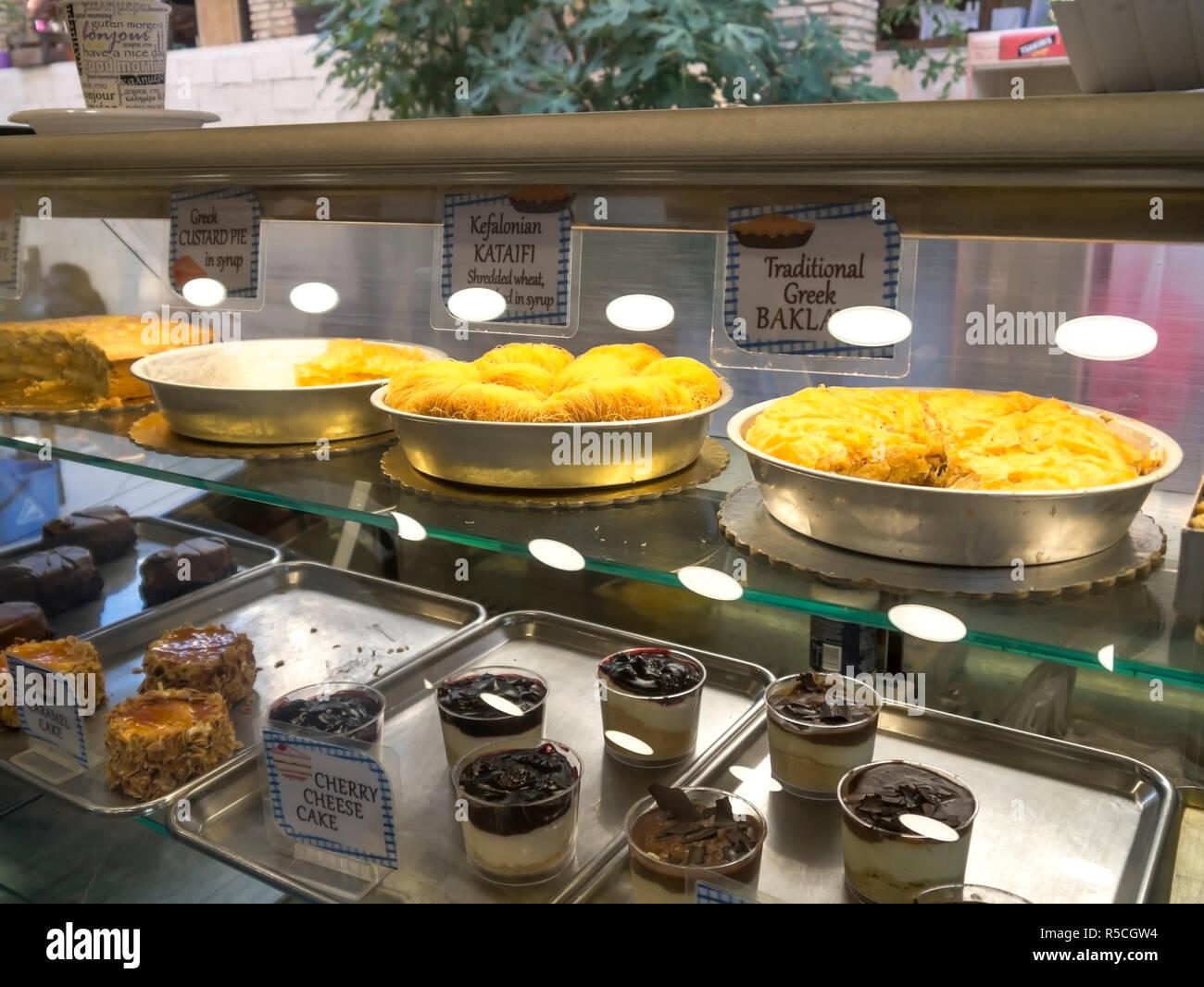 Greek family bakery Kefalonia village - Stock Image