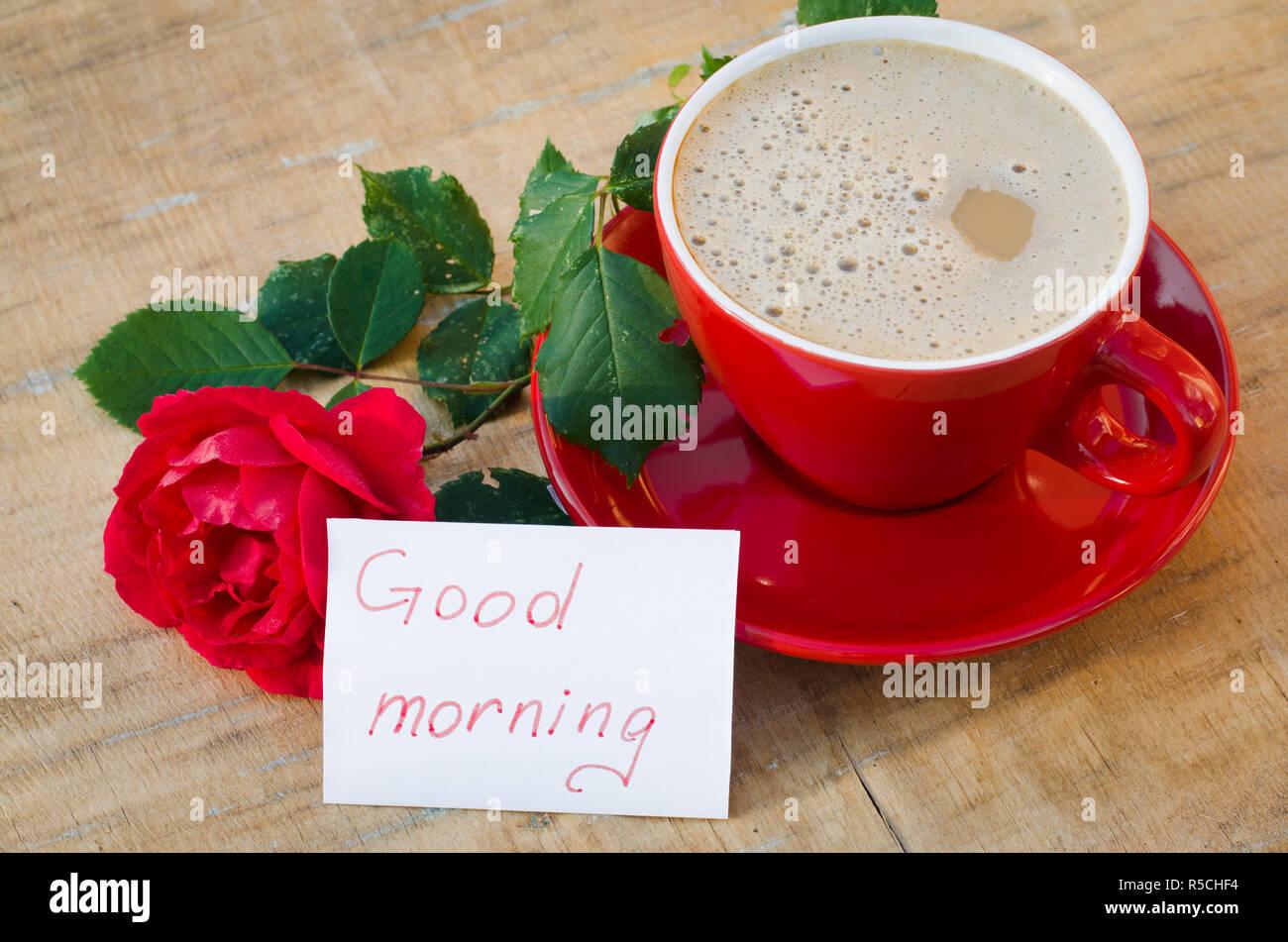 Coffee Flower Good Morning Stock Photos Coffee Flower Good Morning