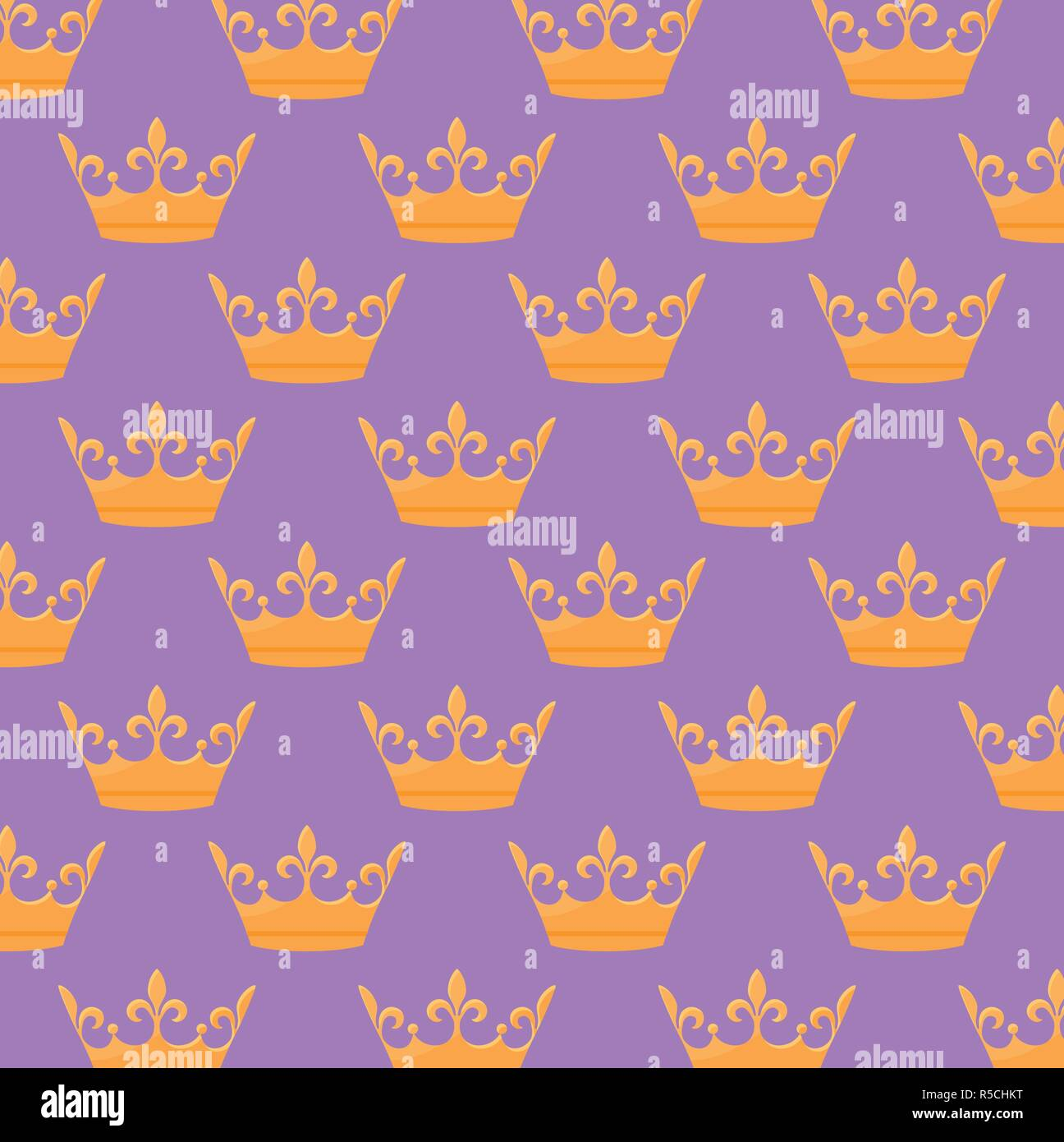 monarchical crown icon pattern vector illustration design - Stock Vector