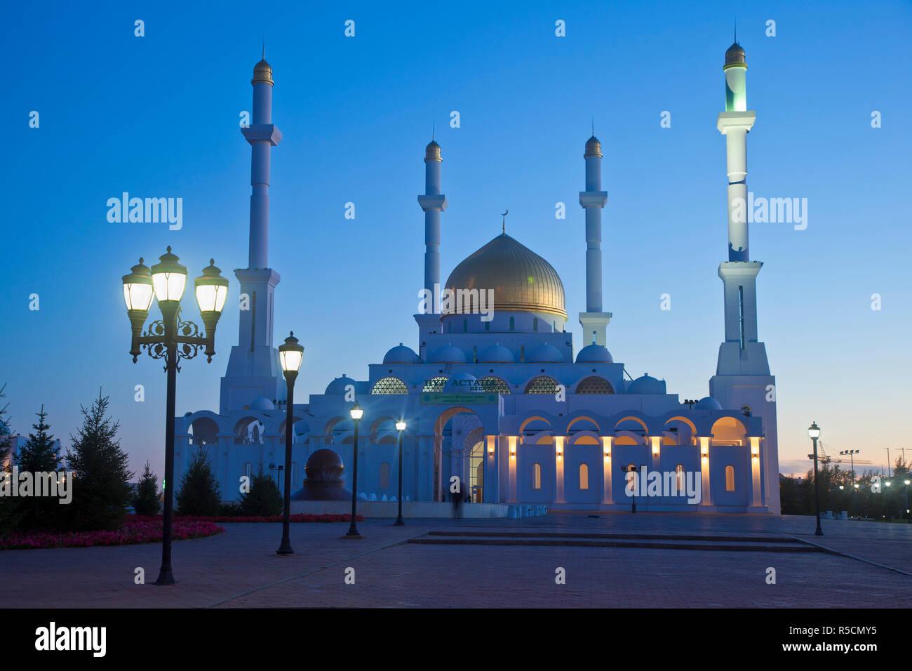 Kazakhstan, Astana, Nur Astana Mosque Stock Photo