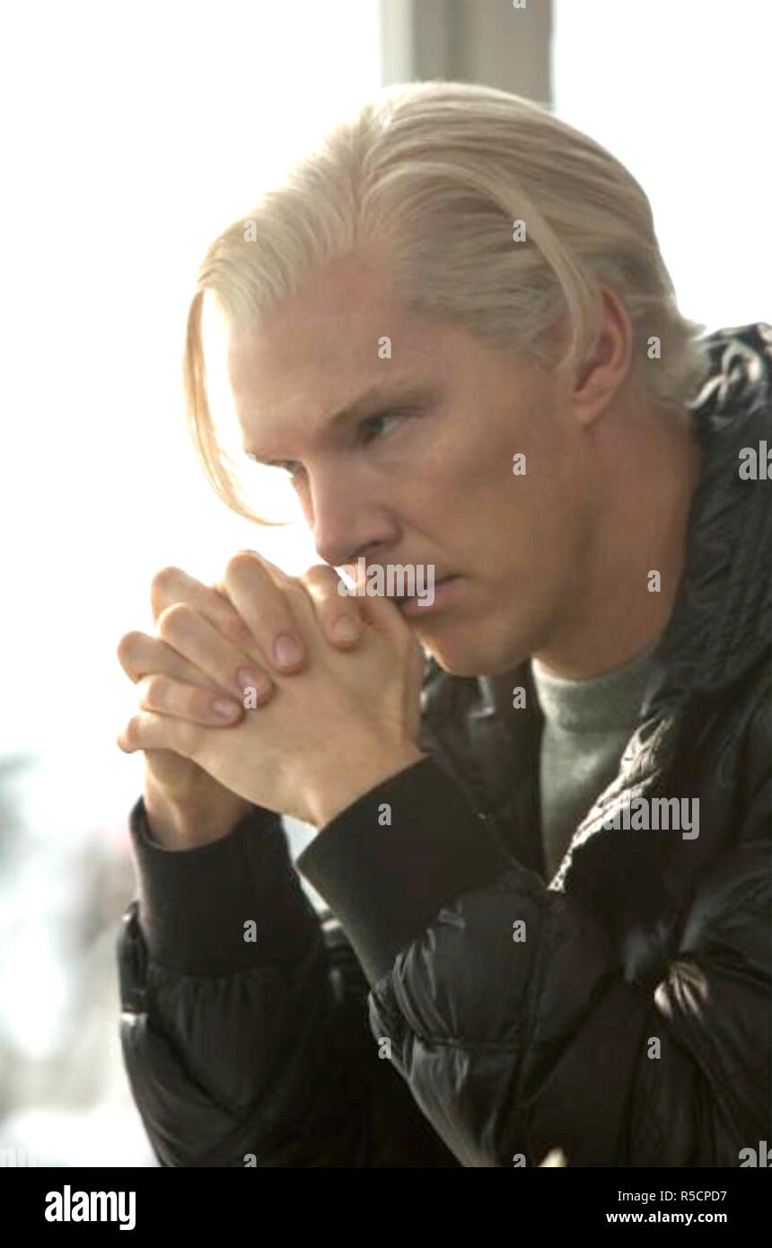 THE FIFTH ESTATE 2013 DreamWorks film with Benedict Cumberbatch as Julian Assange Stock Photo