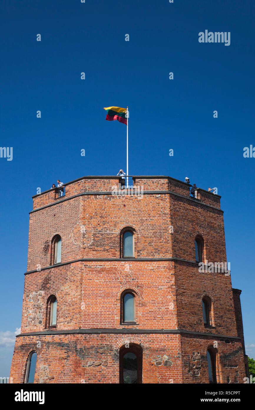 Lithuania, Vilnius, Gediminas Hill, Gedimino Tower Stock Photo