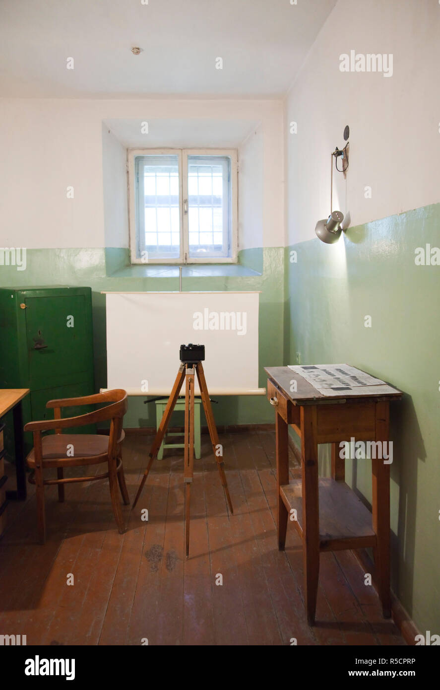 Lithuania, Vilnius, Museum of Genocide Victims, former KGB headquarters, photography area - Stock Image