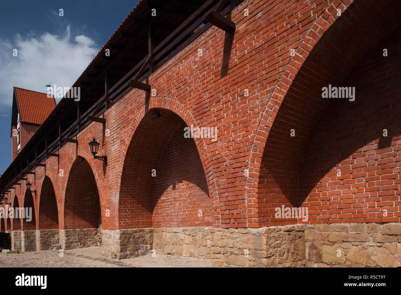 Latvia, Riga, Old Riga, Trksnu Iela Street, old city walls - Stock Image