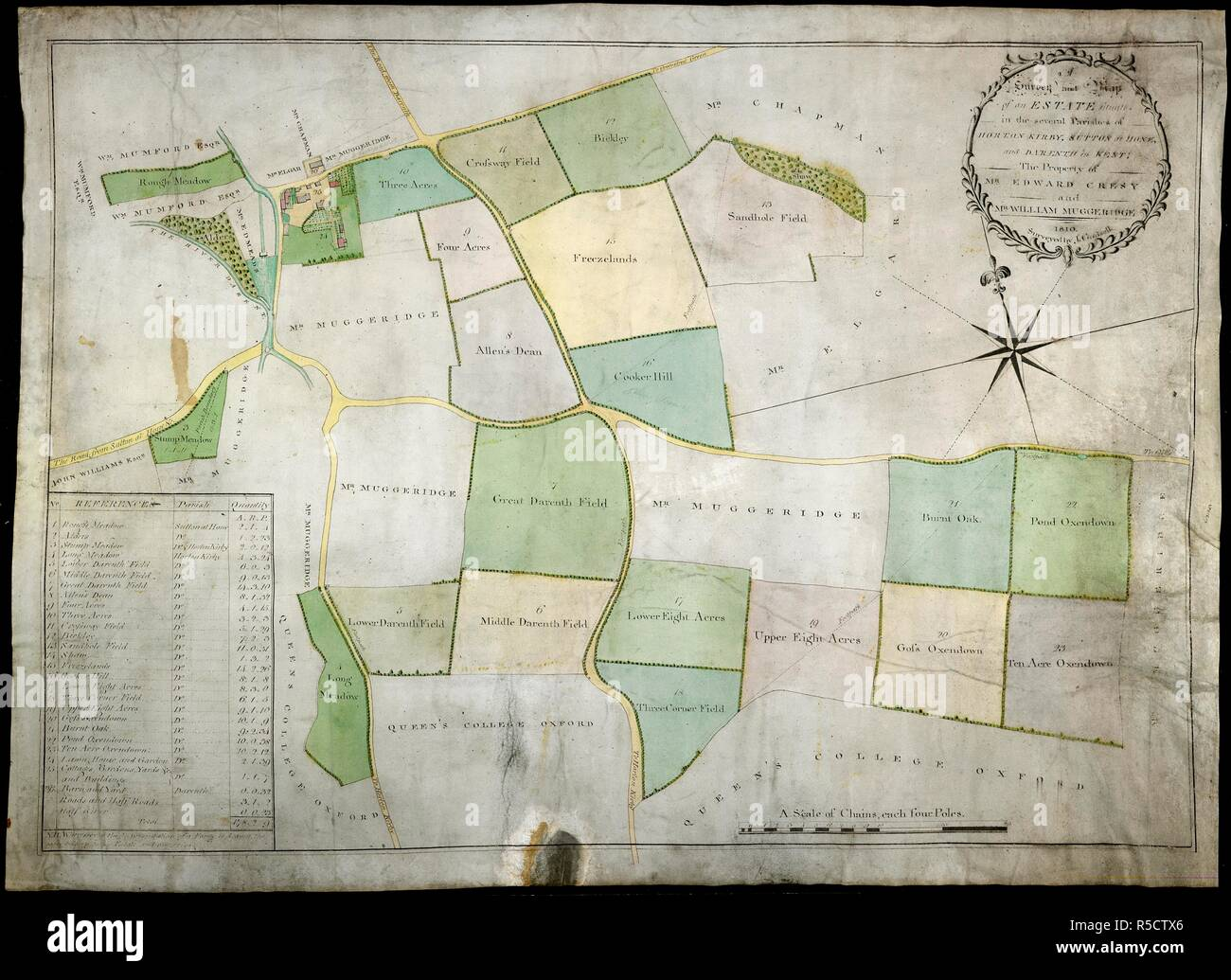 Map Of England Parishes.Kent Estate Map England 1810 Whole Map Survey And Map Of An