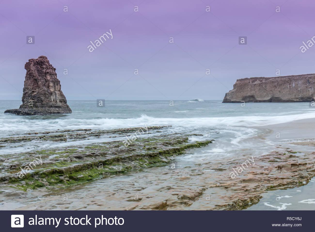 Pacific Ocean Twilight - Stock Image