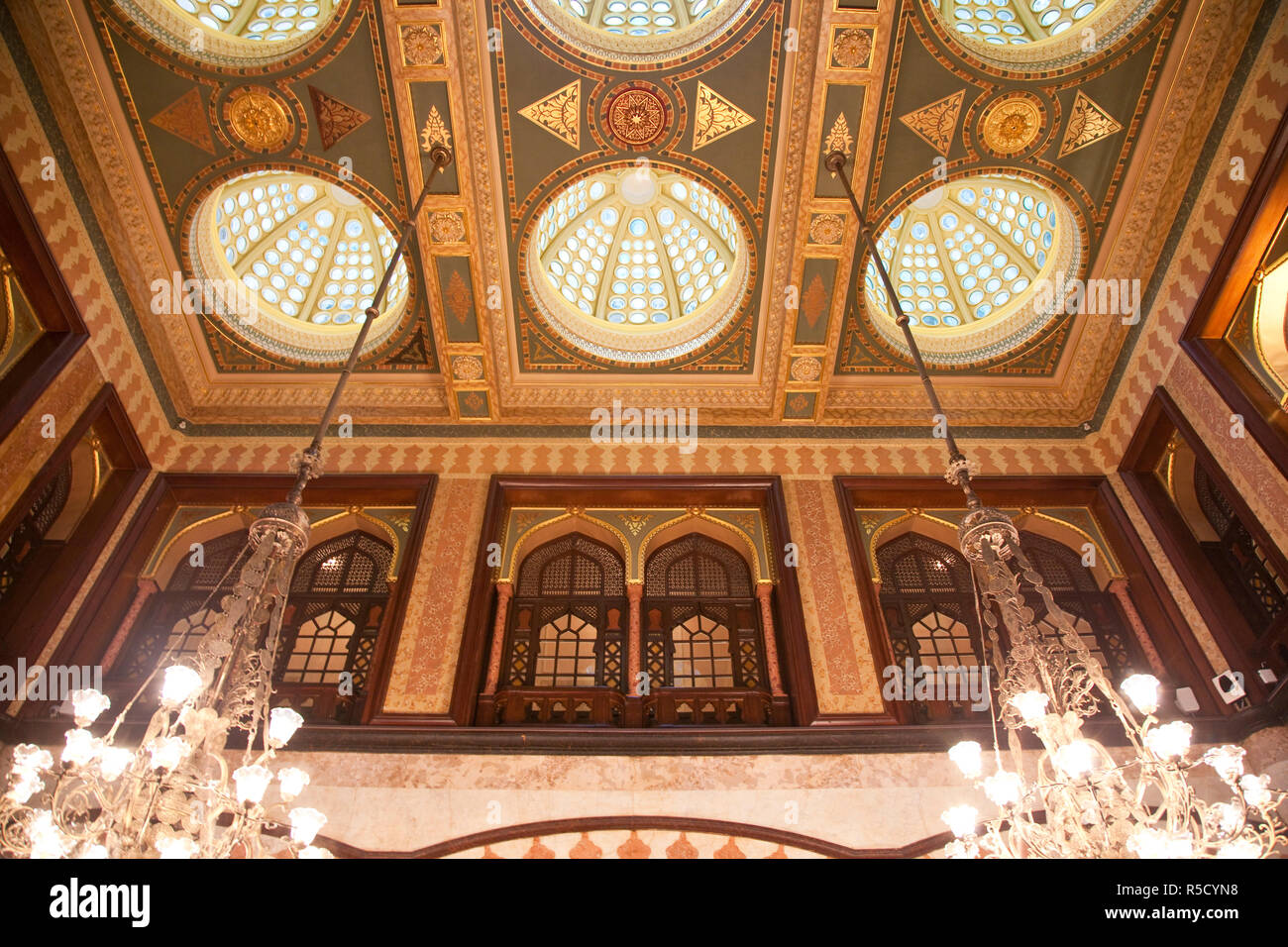 Kubbeli Saloon in the Pera Palace hotel, Beyoglu area, Istanbul, Turkey Stock Photo