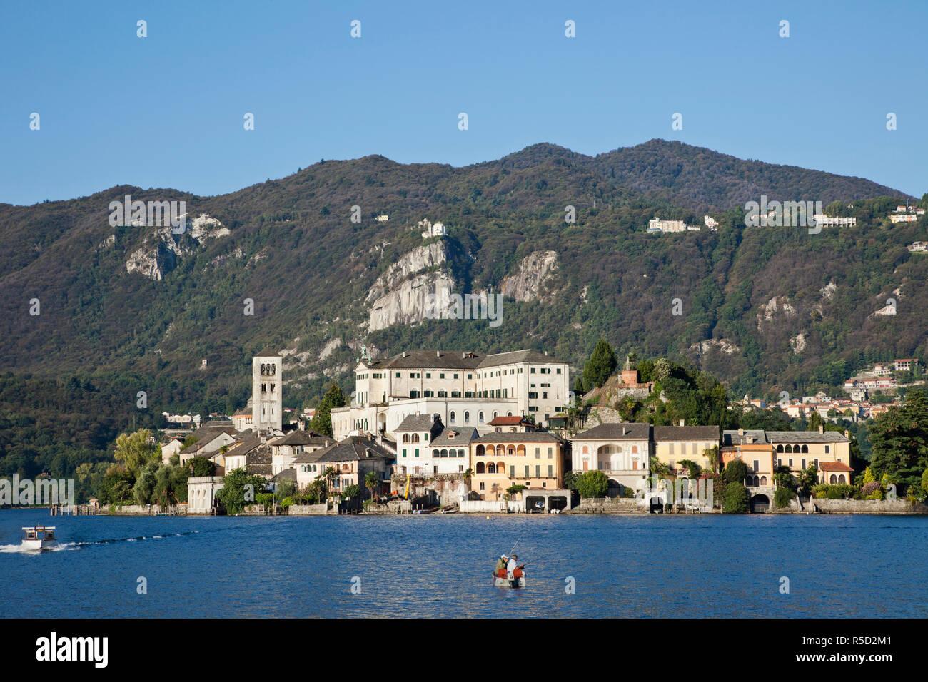 Italy, Piedmont, Lake Orta, San Giulio Island - Stock Image
