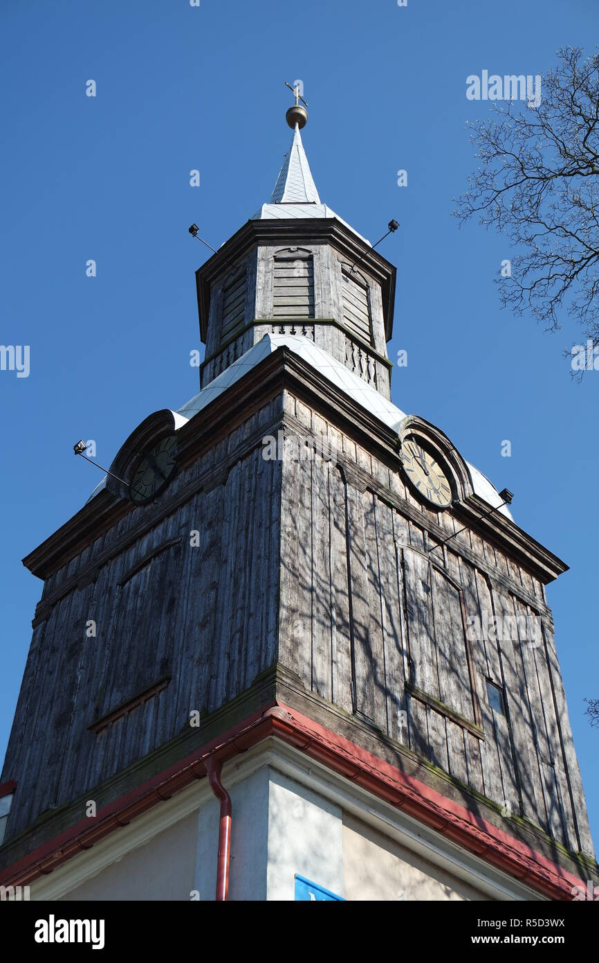 historic church tower in west pomerania Stock Photo