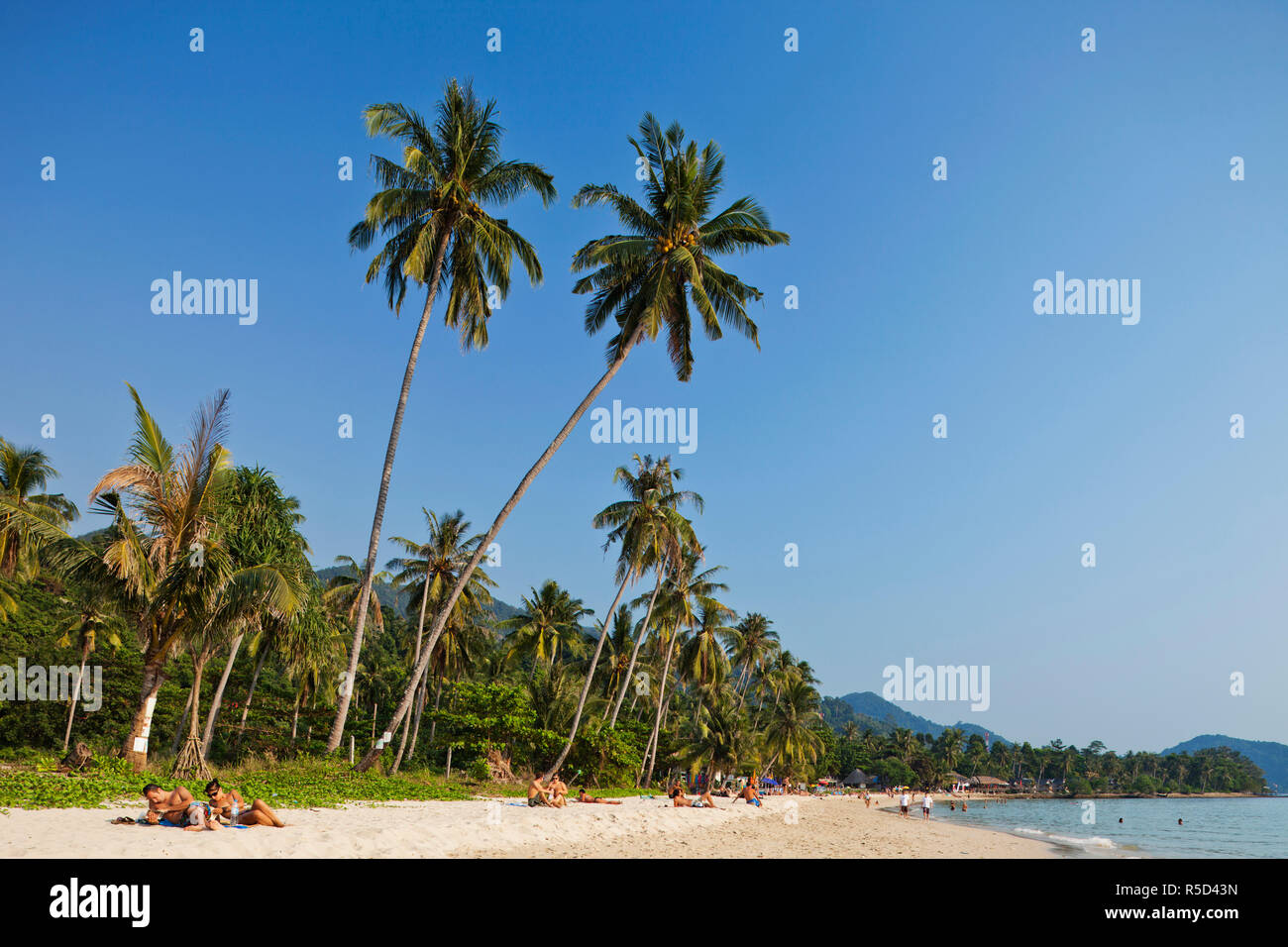 Thailand, Trat Province, Koh Chang, Lonely Beach Stock Photo