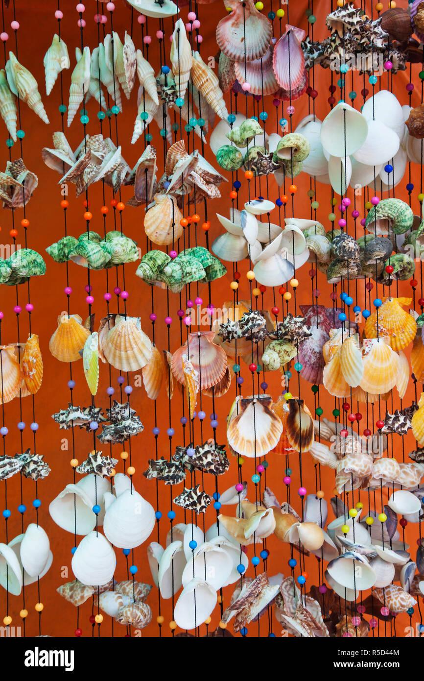 Thailand, Trat Province, Koh Chang, Bang Bao, Souvenir Seashells Stock Photo