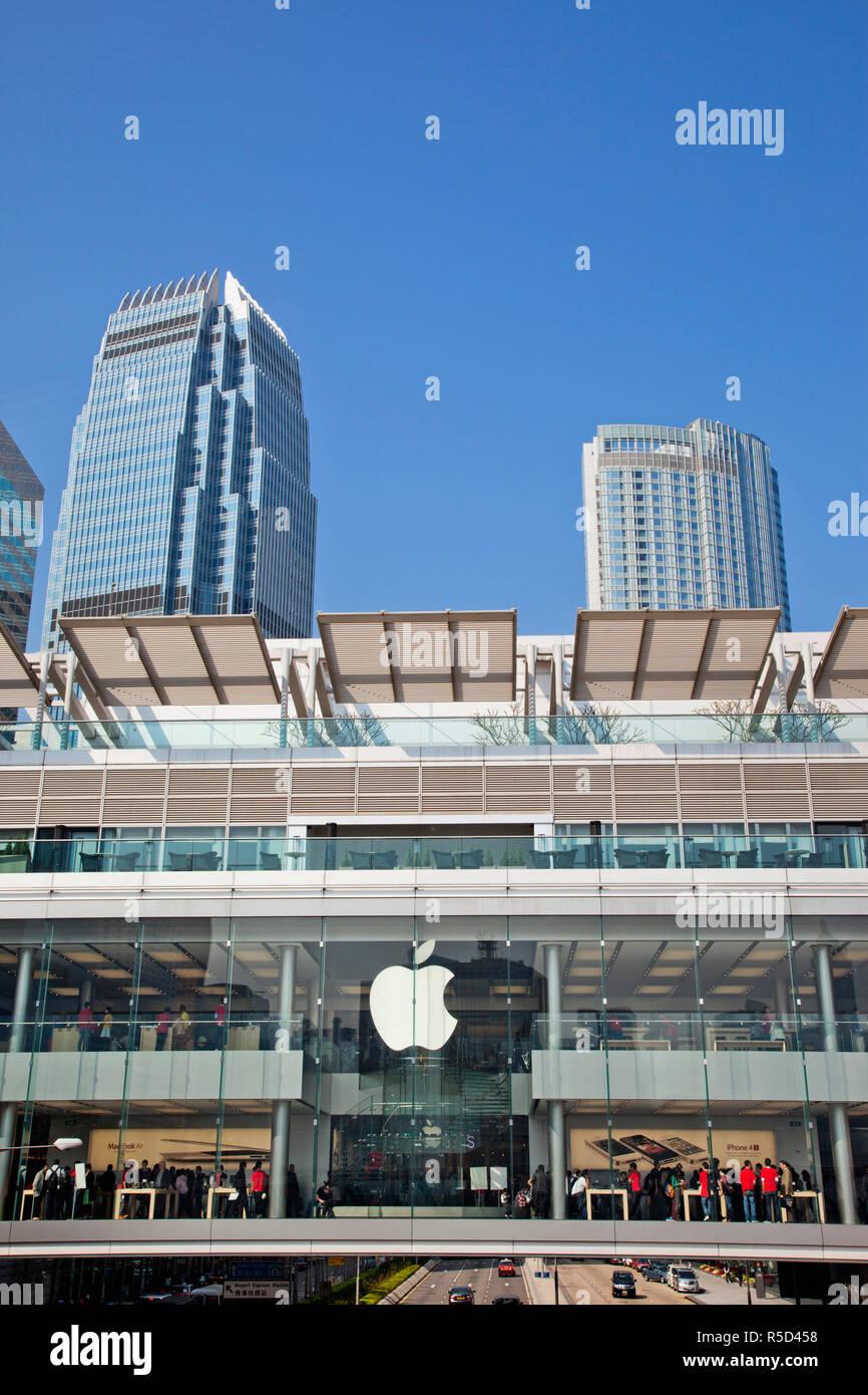 China, Hong Kong, Central, Apple Store - Stock Image