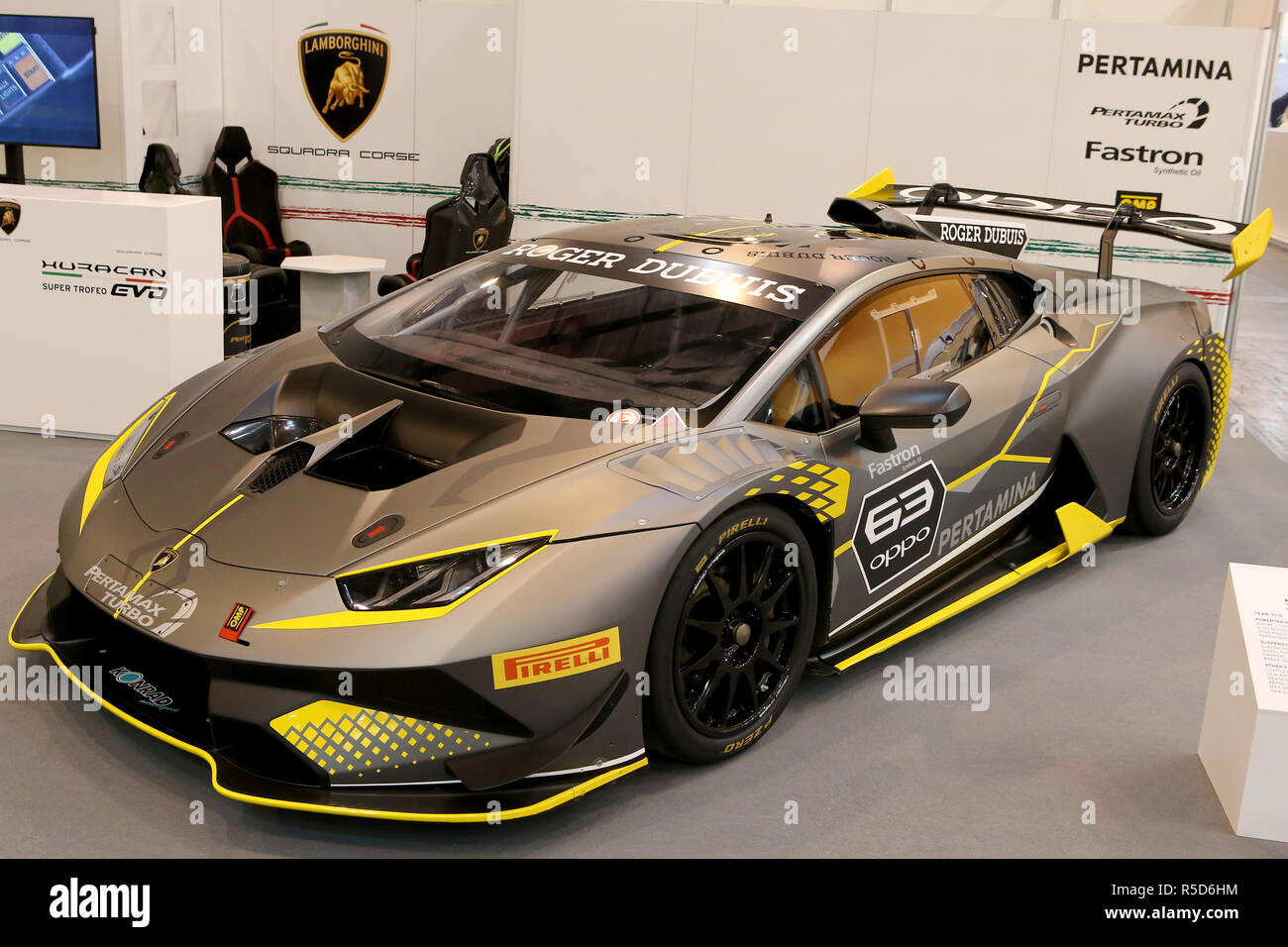 Essen Germany 30th Nov 2018 Lamborghini Huracan On Display At