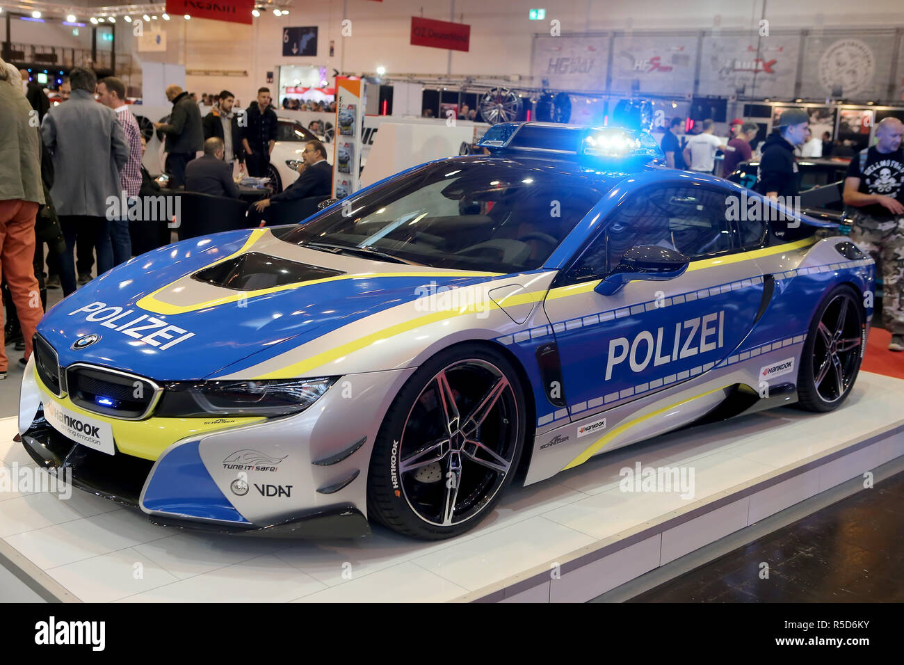 Essen Germany 30th Nov 2018 Bmw I8 Police Showcar On Display At
