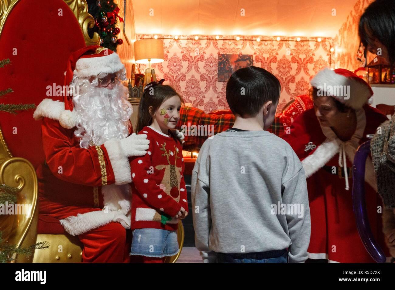 Cork, Ireland, 30th Nov, 2018  Santa Comes to Blackpool