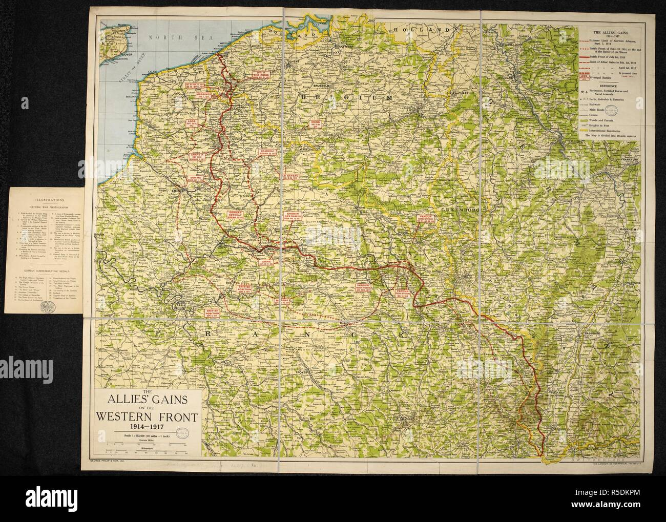 A Map Of The First World War The Allies Gains On The Western Front