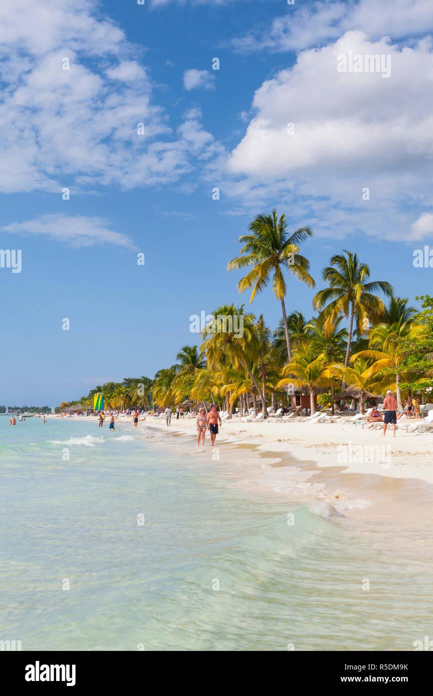 Long Bay, Negril, Westmoreland, Jamaica - Stock Image