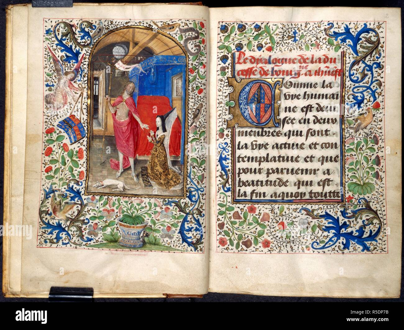 Christ with Margaret of York  Dialogue of the Duchess of