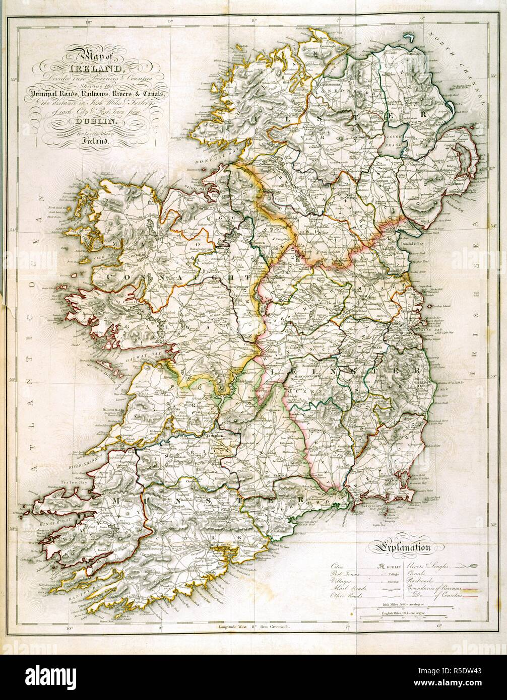Map Of Ireland With Counties And Provinces.Ireland Lewis S Atlas Comprising The Counties Of Ireland 1840