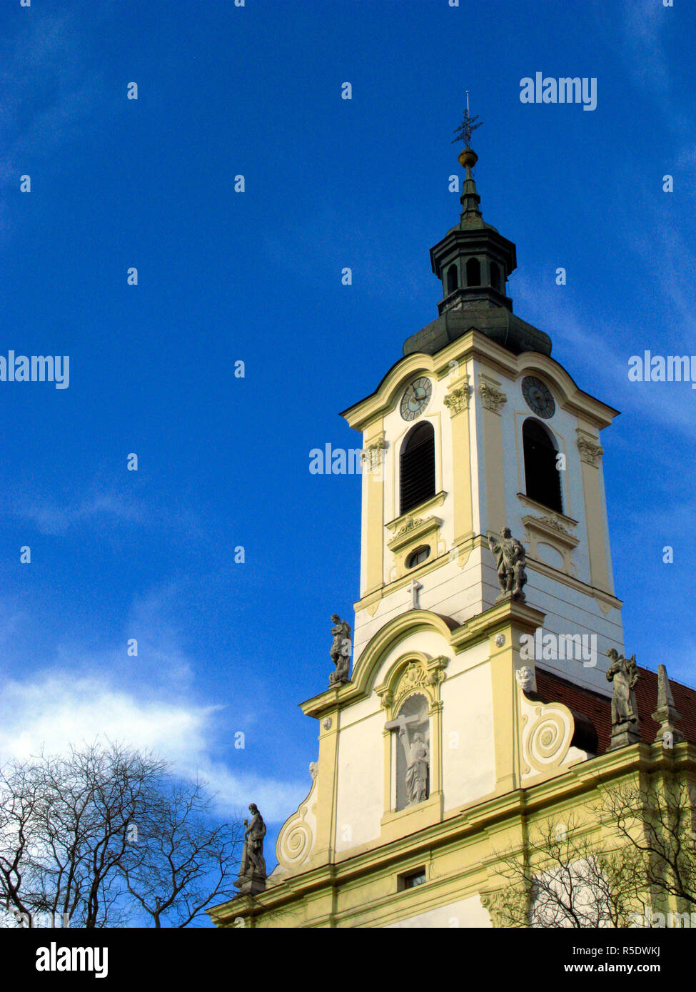 17thC Church and Monastery of The Brothers of Mercy, Bratislava, Slovakia - Stock Image