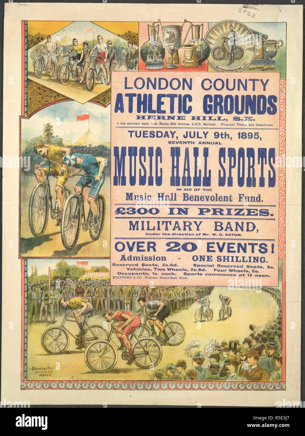 Victorian Music Hall Poster Stock Photos & Victorian Music