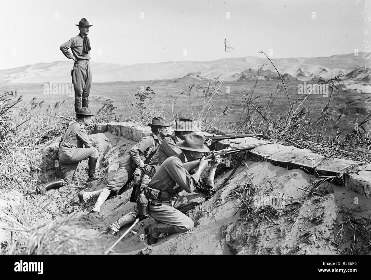 U S  Soldiers fighting in Vera Cruz Mexico ca  1914-1917
